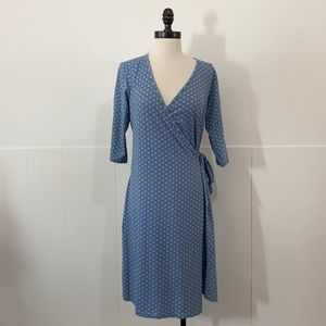 Synergy Semi Circle Print Wrap Dress
